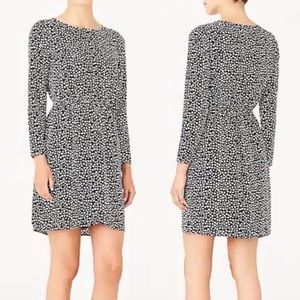 J.Crew Mercantile Heart Dress Black Long Sleeve 10